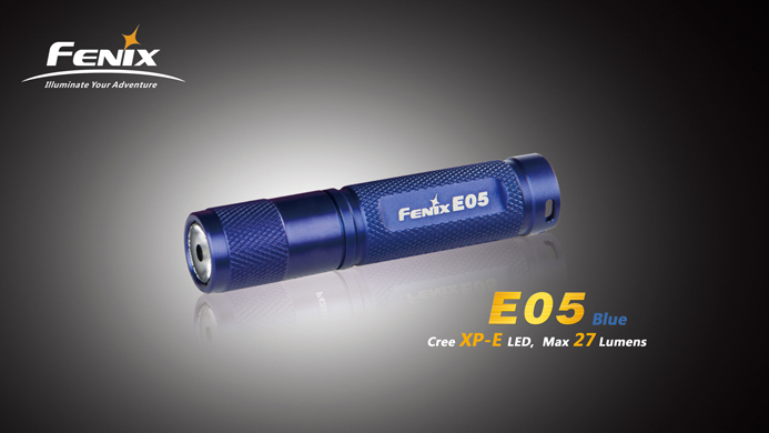 Fenix E05 LED Flashlight Blue