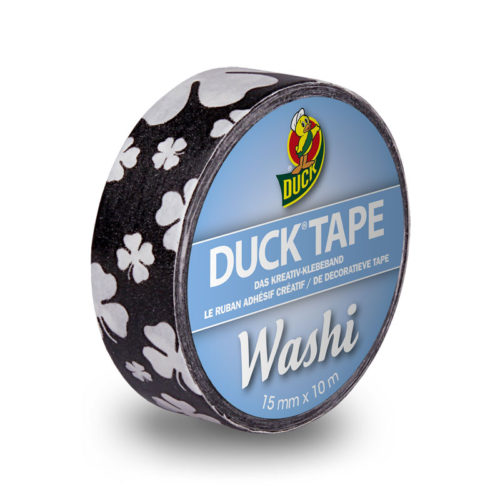 DuckTape Washi Black Cloverleaf