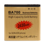 Untitled document    Overview :   1) Brand New 2) High Capacity Gold Business Battery 3) Capacity: 2430mAh 4) Voltage: 3.7V 5) Battery Type: BA700 Rechargeable Lithium-ion battery 6) Suitable for Sony Ericsson Xperia Neo MT15i / Xperia pro MK16i