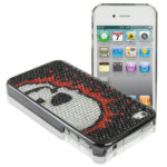 Untitled document 	   Diamond Encrusted Plastic Case for iPhone 4 & 4S / iPhone 4 (CDMA)  Overview :1) Top quality and durable plastic material  2) Precision molded case to perfectly fit your cell phone  3) Covers the entire unit to prevent scratches and bumps