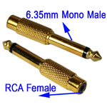 Untitled document    Overview :   1) 6.35mm Memo Male to RCA Female  2) High Quality for audio clarity  3) Suitable for audio application