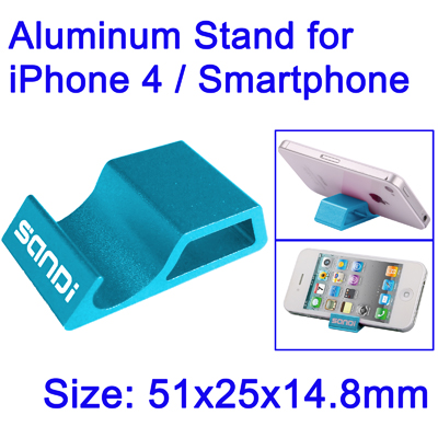 Untitled document     Overview :   1) Aluminum Stand for iPhone 4 / Smartphone 2) Best quality 3) Stand give you beautiful picture on your table