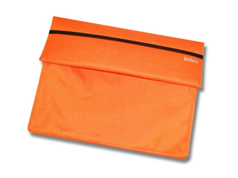 Untitled document   Description Soft Case is the convenient alternative to a laptop bag. These are well padded all around and very light. This bag is suitable for 12 inch notebooks. Technical data Exterior dimensions: L x W x H = 34 x 27 x 6cm Color: Orange